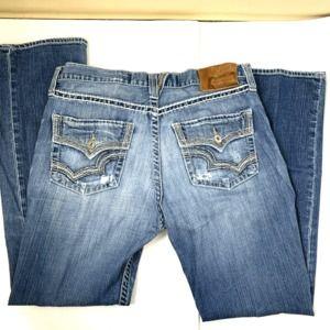 Big Star 36L Pioneer Mens Distressed Jeans